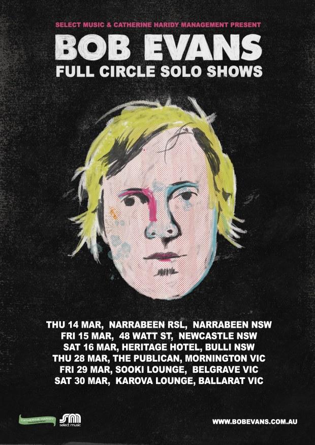 Bob Evans tour poster March 2019