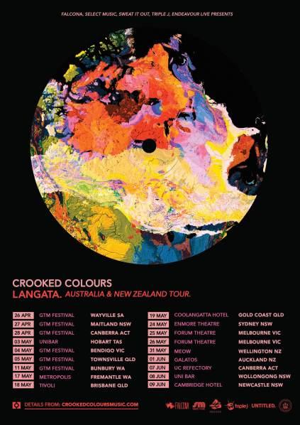 Crooked Colours tour art Mar 2019