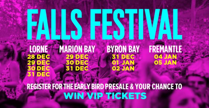 Falls Festival 2020 2019/2020 DATES ANNOUNCED! FALLS FESTIVAL FIRST EVER EARLYBIRD